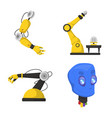 robot and factory icon set vector image vector image