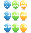 Round pointer for big sale new and sold out items vector image vector image