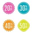Sale Label Set vector image