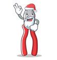 santa pliers character cartoon style vector image vector image