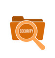 security word magnifying glass vector image