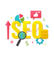 seo optimization web analytics concept vector image
