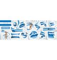 set national flag honduras in vector image