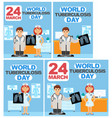 several posters for a day of tuberculosis vector image