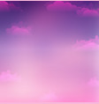 sky and clouds with vector image vector image