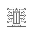 smart building new city technology line icon vector image