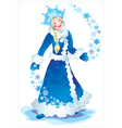 snow maiden vector image