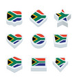 south africa flags icons and button set nine vector image vector image