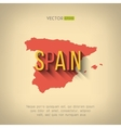 spain map in flat design Spanish border vector image vector image