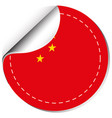sticker design for china flag vector image vector image
