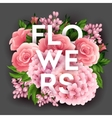 Stylish poster with beautiful flowers vector image