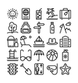 Summer and Travel Icons 1 vector image vector image