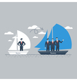 Team building business management vector image vector image