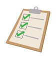 To do list icon cartoon style vector image vector image