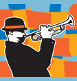 trumpet plater vector image vector image