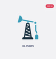 two color oil pumps icon from industry concept vector image vector image