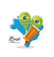 welcome to the brazil design vector image