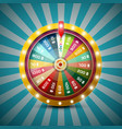 wheel of fortune on retro blue background vector image