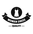 woman dress logo simple black style vector image