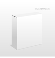 Blank Box on a white background vector image