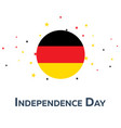 independence day of germany patriotic banner vector image