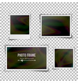 instant photo frame blank vintage photo vector image