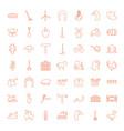 49 farm icons vector image vector image