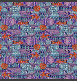 a doodle marine life pattern vector image vector image