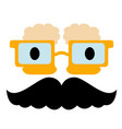 abstract character with mustache vector image vector image
