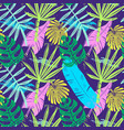 abstract seamless tropical leaves pattern vector image vector image