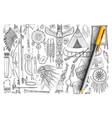 accessories if indians doodle set vector image