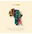 africa map in flat design African border vector image vector image