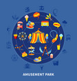 amusement park set vector image vector image