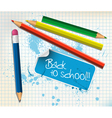 back to school poster vector image vector image