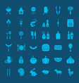 barbecue solid web icons vector image vector image