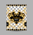 baroque fashion decorative design poster vector image vector image
