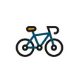 bicycle icon on white background vector image