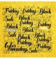 Black Friday Gold Lettering vector image vector image