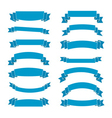 Blue ribbon banners set vector image vector image