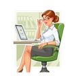 Business woman in armchair vector image vector image
