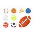 cartoon colorful ball set sport balls vector image