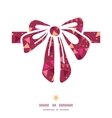 christmas decorations flags gift bow silhouette vector image