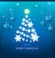 christmas tree greeting card new year tree vector image vector image