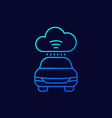 cloud technologies for transport cars line icon vector image vector image