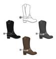 cowboy s boots icon in cartoonblack style vector image vector image
