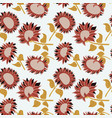 Decorative beauty sunflowers seamless pattern