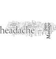 easy ways to relief headache vector image vector image