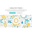elegant thin line flat modern healthy vector image