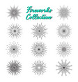 fireworks silhouette black icons collection vector image
