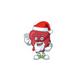friendly heart santa cartoon design with ok finger vector image vector image